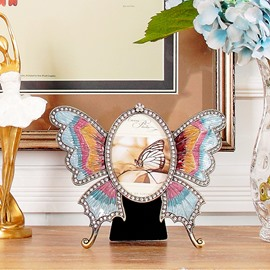 Simple Modern European Style Alloy Butterfly Design Photo Frame