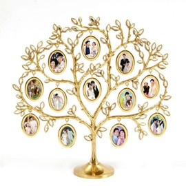 Golden Beautiful Tree Shape Decorative Table Photo Frame