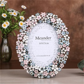 Pastoral and Elegant Fresh Style Flowers Home Decoration Desktop Photo Frame