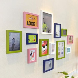 Modern Simple Wood Wall Photo Frame Set
