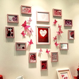 Gorgeous Resin 13 Pieces Heart Shape Home Decorative Wall Photo Frame