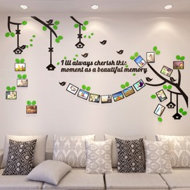 Tree 17 Photo Frames Acrylic Waterproof and Environmental 3D Wall Stickers