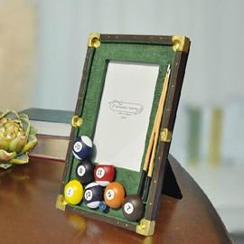 New Arrival Lovely Billiards Style Retangular Photo Frame with Carvings