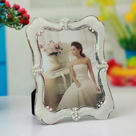 Wonderful Decorative Pearl Desktop 7' Photo Frame