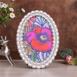 Classical European Style Elliptical with Pearls Surrounded Home Decorative Photo Frame