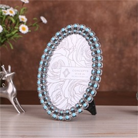 Retro and European Style Turquoise Metal Home Decoration Wedding Gift Photo Frame