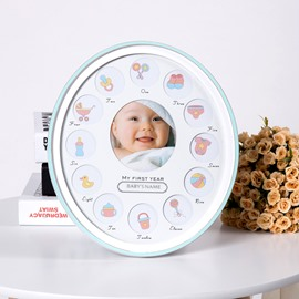 Modern and Concise Style Density Board Circle Creative Kids Photo Frame