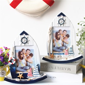 5 Inch Swing Sailboat Creative Desktop Photo Frame