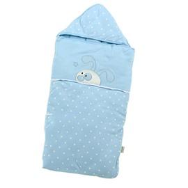 Super Graceful Blue Rabbit Dots Design Baby Quilt