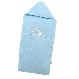Super Graceful Blue Rabbit Dots Design Baby Quilt