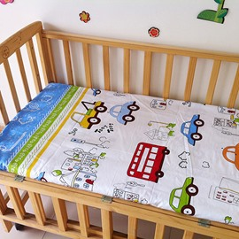 Blue Cars Pattern Cotton Baby Crib Fitted Sheet