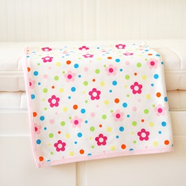 100% Cotton Pink Flower Pattern Baby Crib Sheet