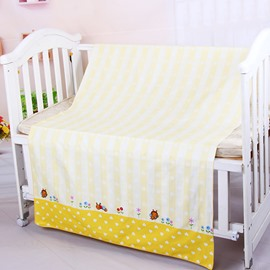 Adorable Yellow Bee Pattern Cotton Baby Crib Sheet