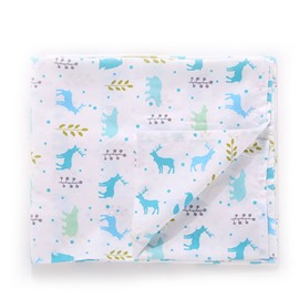 Cute Moose Pattern 100% Cotton Baby Crib Flat Sheet