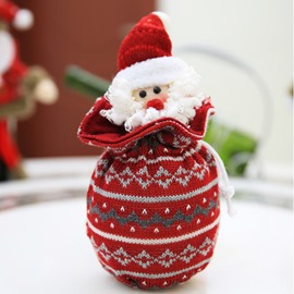 Santa Claus Deer Candy Gift Apple Bag Christmas Decoration