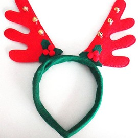 Lovely Festival Christmas Decoration Wing Pattern with Bells Head Hoop