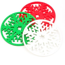 Snowflake Shape Non-woven Christmas Decoration Set of 6