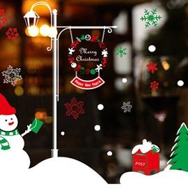 Super Festival Christmas Decoration Snowman Pattern Wall Sticker