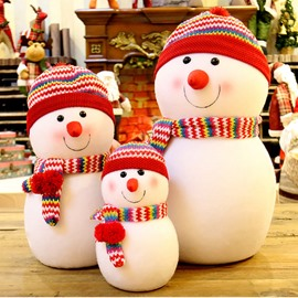 Family Snowman Toy Blue Red Desktop Decoration Christmas Gift