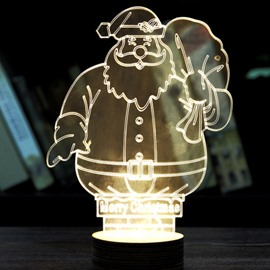 Popular Festival Christmas Decoration Santa Claus Pattern Table Lamp