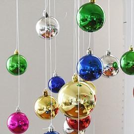 Festival Christmas Decoration Muticolor Christmas Ball