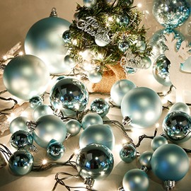 Pretty Festival Blue Christmas Tree Decoration Balls