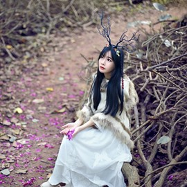 Elk Antlers & Tree Branch Hair band Headdress