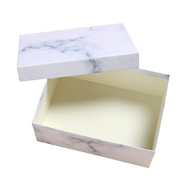 Festival Simple Marble Paperboard Marbling Gift Box