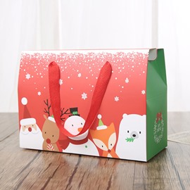 Christmas Hand-held Rectangular Hand-held Paper Gift Bag