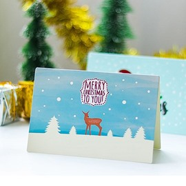 Cute Small Christmas Greeting Card Various 9 Sheets/Set