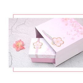 Romantic Cherry Blossom 3-size Pink Gift Bag and Box