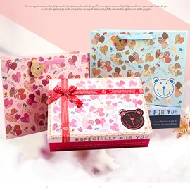 Sweet Cute Bear Pattern Bowknot Paper Bag and Box