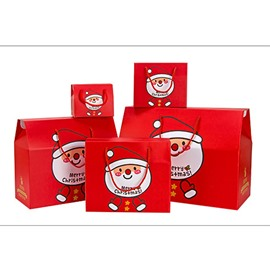 Christmas Santa Claus or Snowman Pattern Paper Gift Bag