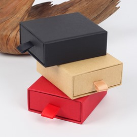 Drawer-style Original Small Plain 3-color Hardboard Gift Box