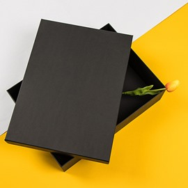 Slap-up Classic Oblong Black Hardboard Gift Box
