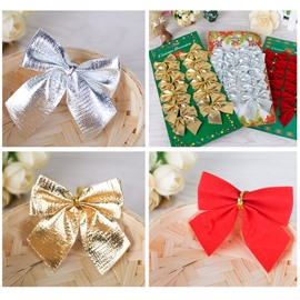 Ribbon Bow Christmas Tree Decorations for Holiday and Party