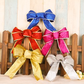 Christmas Ribbon Bows Tree Decorations and Party Decorative