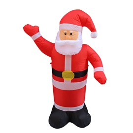 4-9.8 Feet Inflatable Lighted Santa Claus with Blower Christmas Decoration