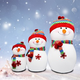 Smile Cute Snowman Makes U Feel Good Christmas Decoration