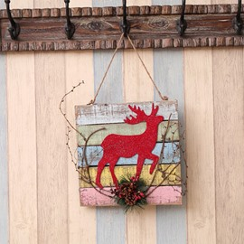 Impressive High Quality Wood Christmas Sign Door Decor