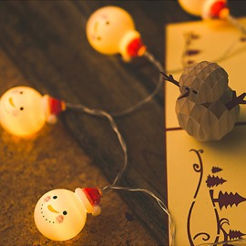 9.8/16 Feet Warm White Snowman Battery Operated String Lights