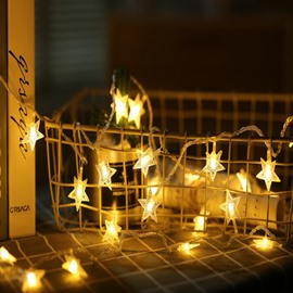 Room Layout Shiny Star String Lights