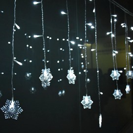 Crystal Clear Glittering and Translucent Christmas Snowflakes String Lights