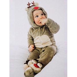 Cute Christmas Reindeer Children's One-piece Pajamas