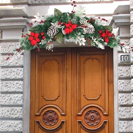 Beautiful Natural Green Christmas Vine Door Decoration