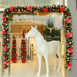 8.8 ft Christmas Rattan Simulation Encryption Door Arch Vine Decoration