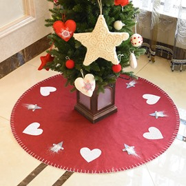 Creative Simple Pure Color Christmas Tree Skirt