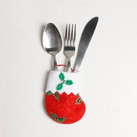 Exquisite Christmas Knife and Fork Stocking Cover