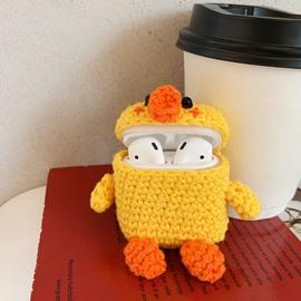 Cartoon Cute Wool Knit Apple AirPods Case