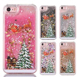 Christmas Elk Sleigh Cedar Flashing Sands Mobile Case
